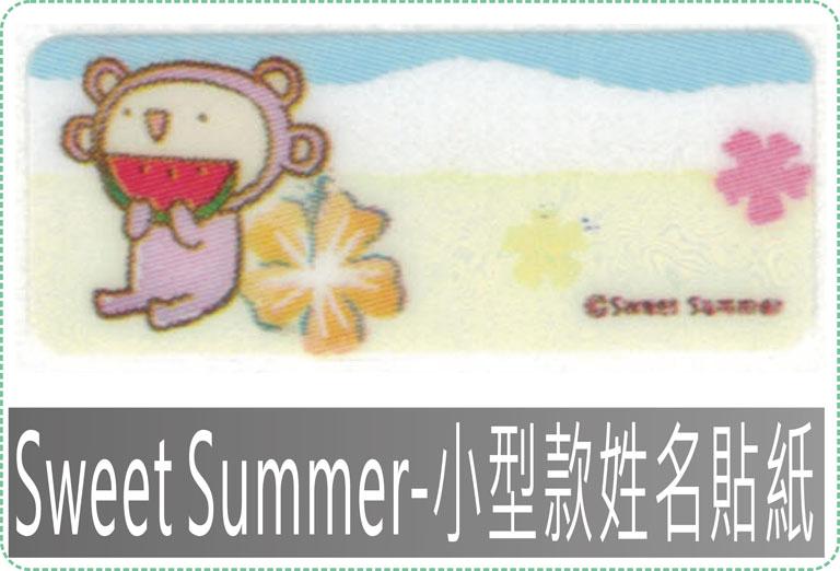 Sweet Summer-小型款姓名貼紙