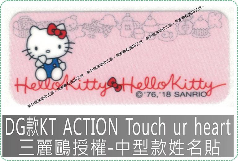 DG款KT ACTION Touch ur heart三麗鷗授權-中型款姓名貼