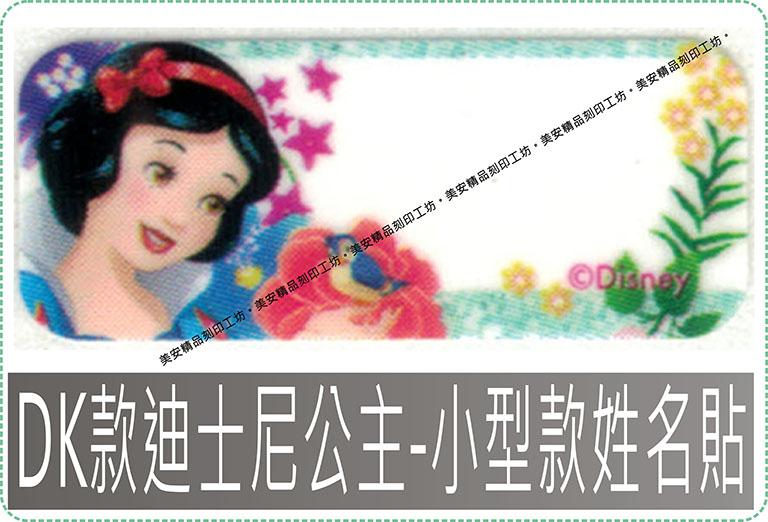 DK款迪士尼公主姓名貼紙迪士尼授權-小型款姓名貼